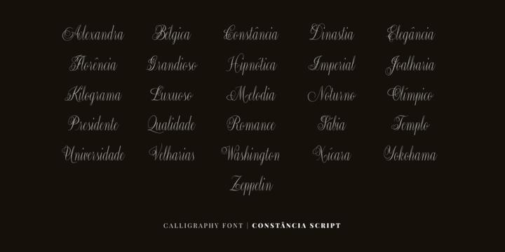 Constancia Script Font