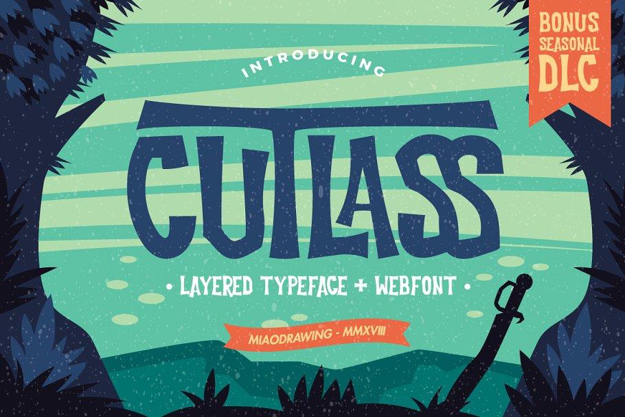 Cutlass Typeface + Bonus Font