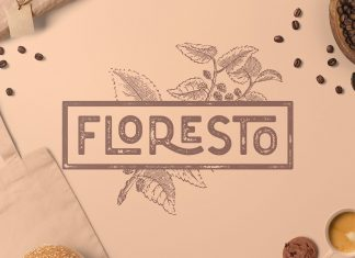 Floresto Textured Typeface Font