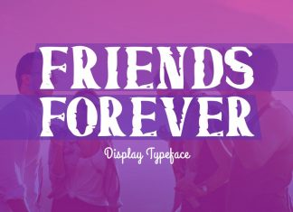Friends Forever Typeface Font