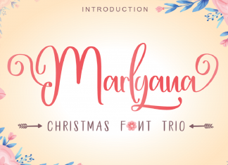 Happy Marlyana trio Script Font