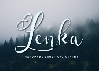 Lenka Brush CaligraphyScript Font