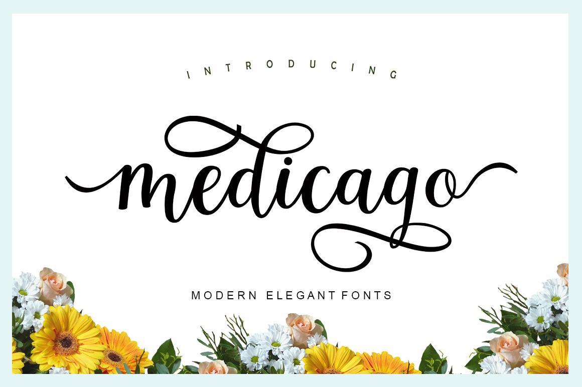 Medicago Script Font