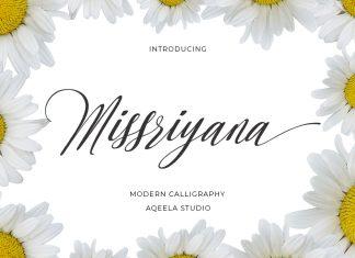 Missriyana Script Font