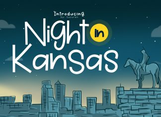 Night in Kansas Other Font