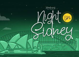 Night in Sidney Script Font