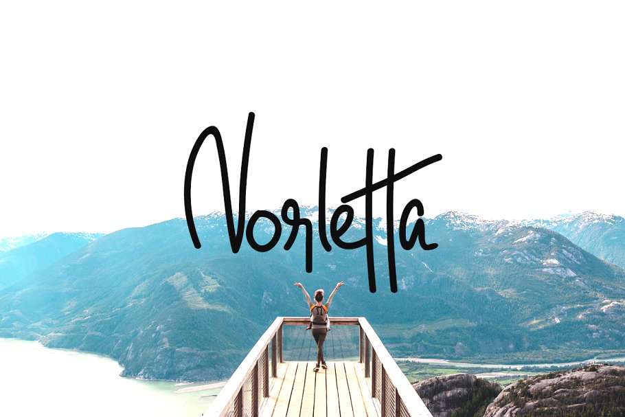 Norletta - Handwritten Luxury Font