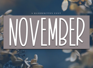 November - A Tall Handwritten Font