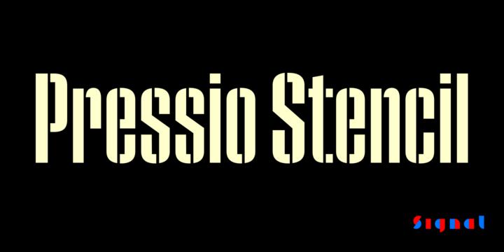 Pressio Stencil Font Family