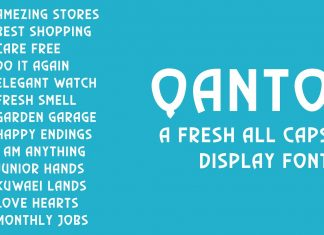 Qanto - Display Font