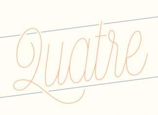 Quatre Script Font