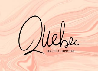 Quebec - Beautiful Signature Font