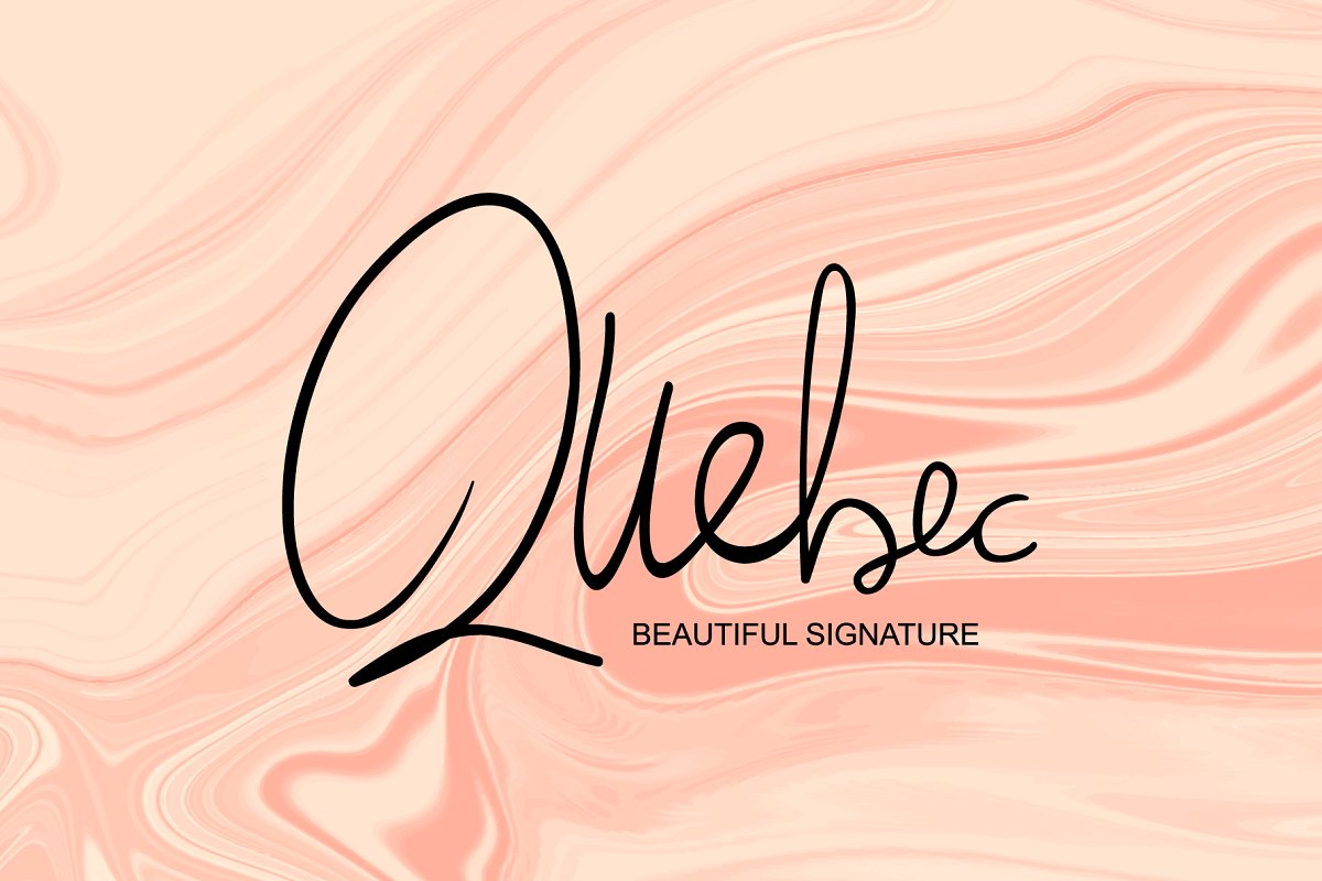 Quebec - Beautiful Signature Font