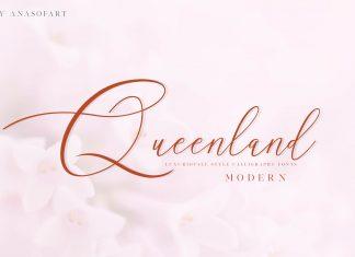 queenland Script Font