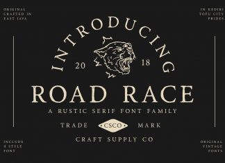 Road Race Extra Font Family