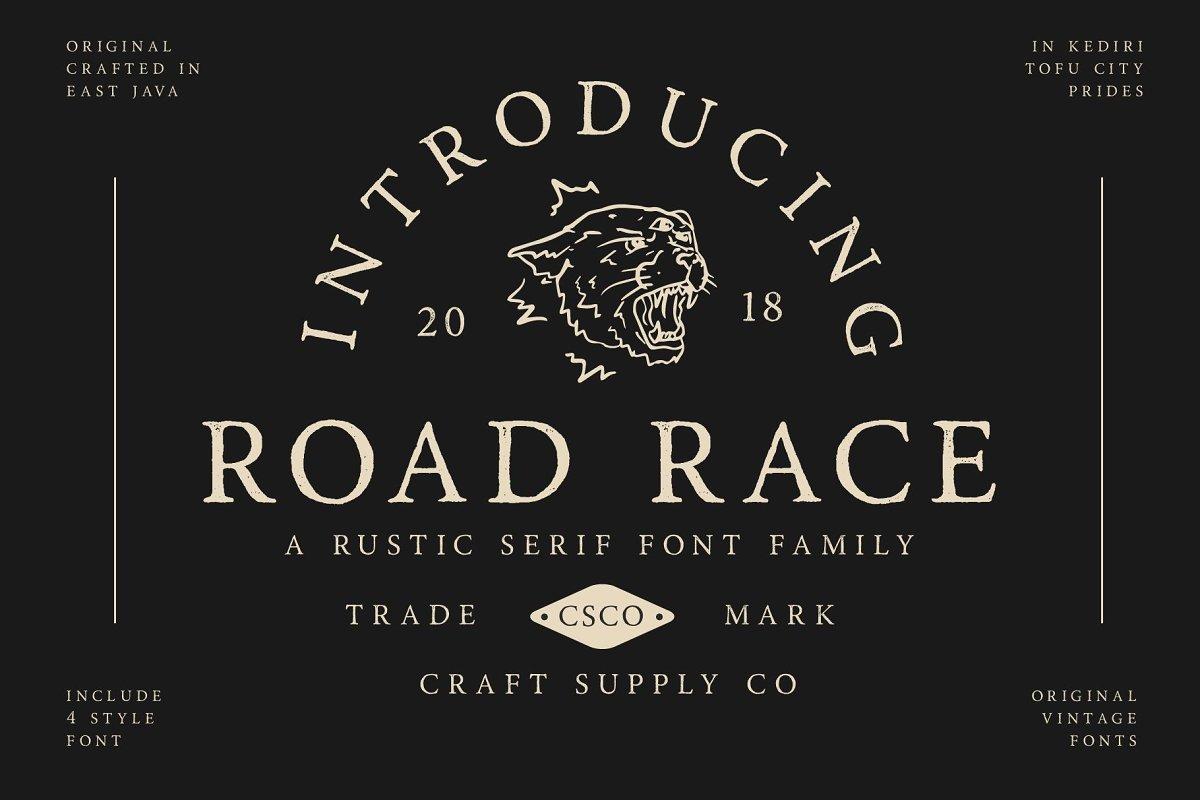 Road Race Extra Font Family