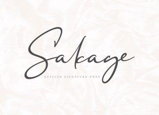 Sakage Signature Font