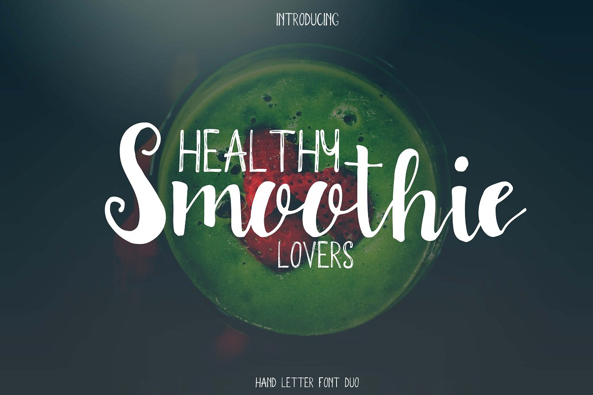 Smoothie font duo