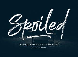 Spoiled Font Script Font