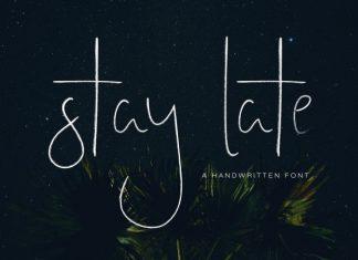 Stay Late - A Handwritten Font