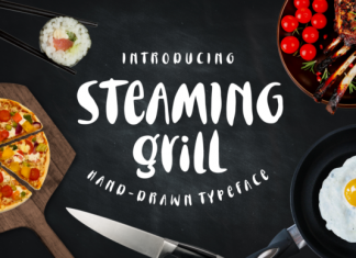 Steaming Grill Font
