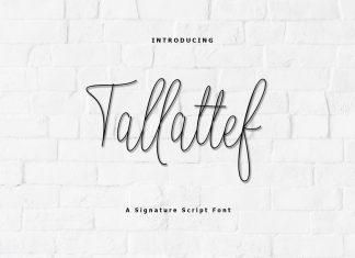 Tallattef Signature Script Font