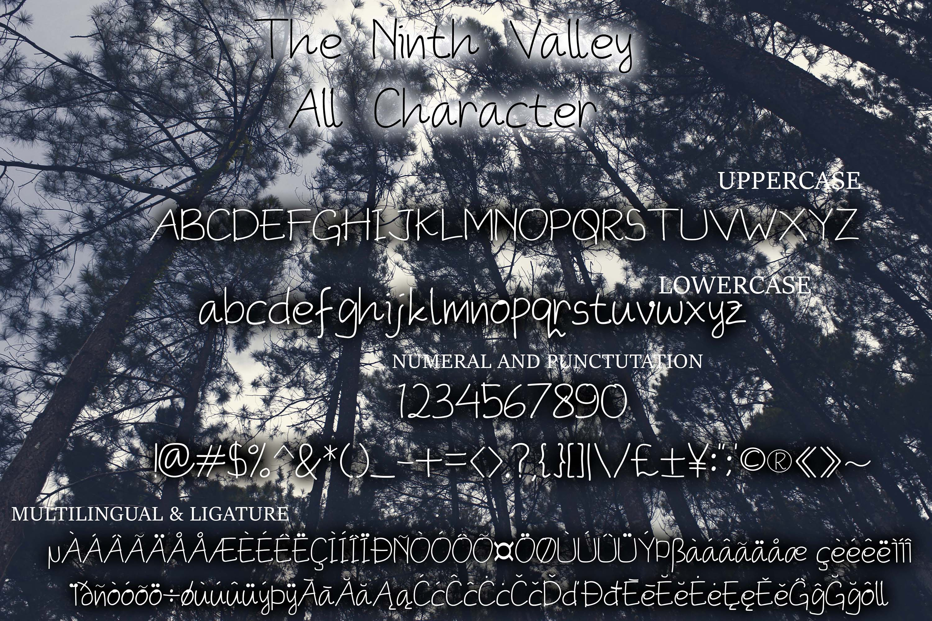 The Ninth Valley Other Font