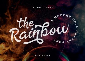 The Rainbow modern calligraphy font