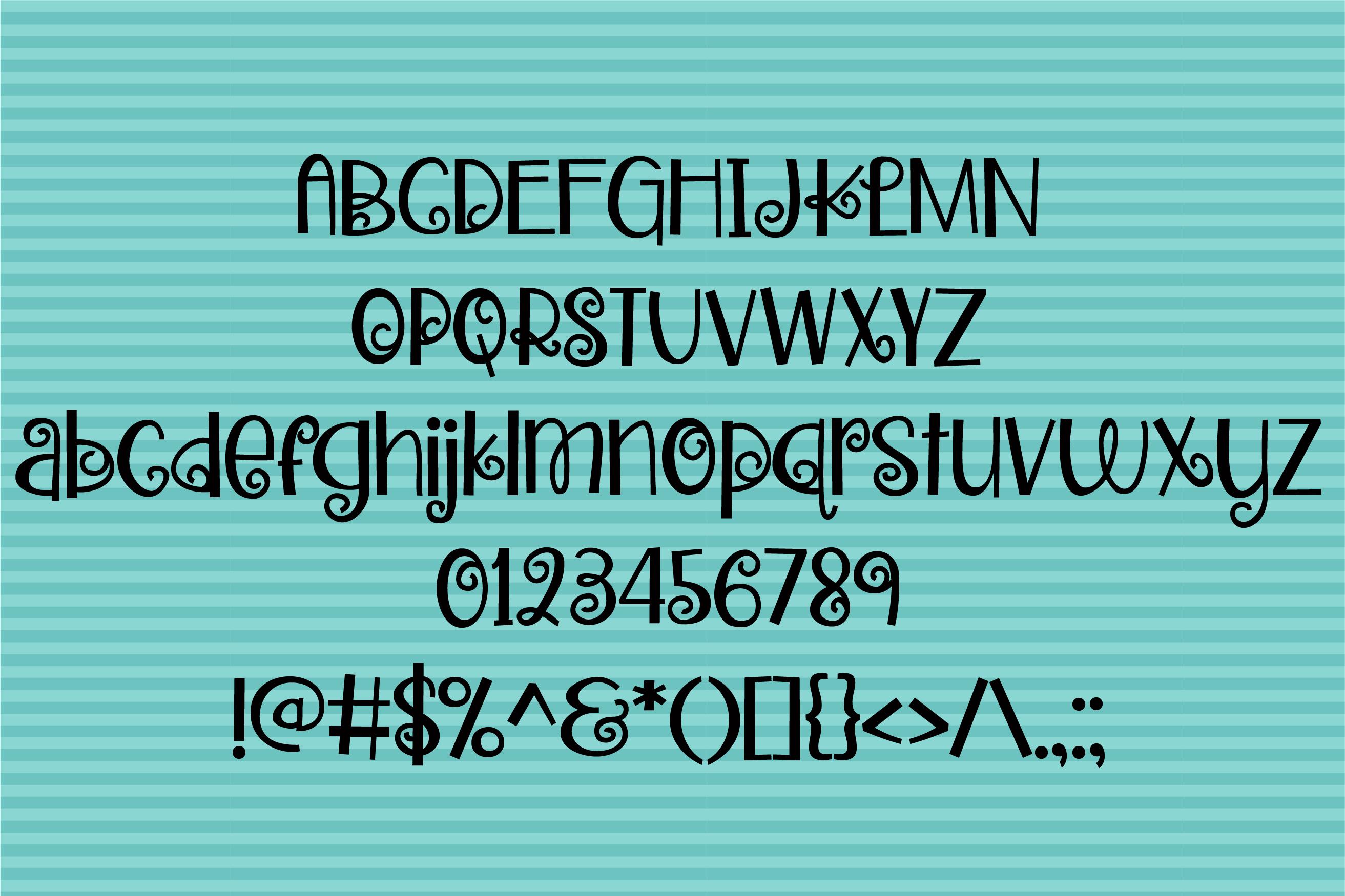 ZP Zweetie Curliecue Regular Font