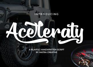 Aceleraty Script Font