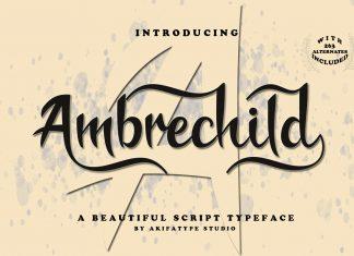 Ambrechild Script Font
