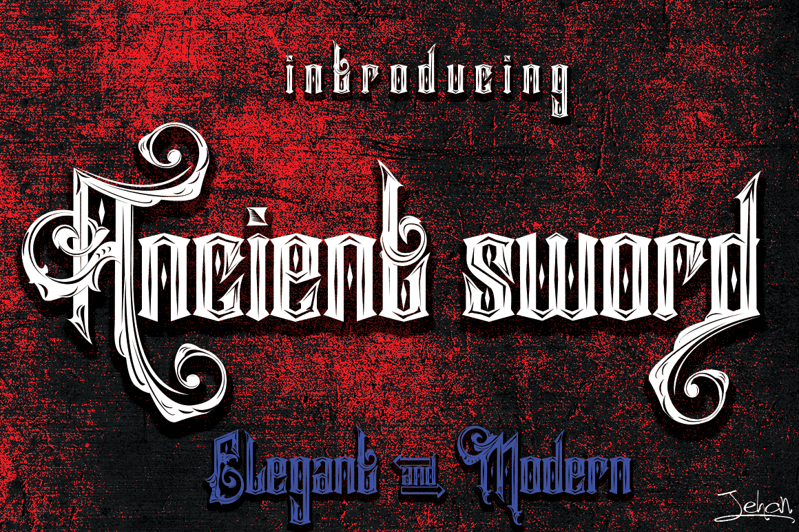 Ancient Sword Other Font