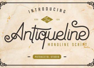 Antiqueline - Monoline Typeface