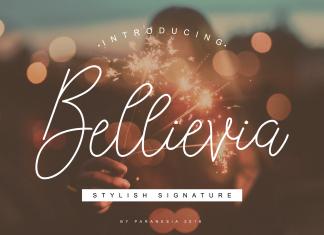 Bellievia Script Font