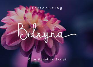 BelrynaScript Font