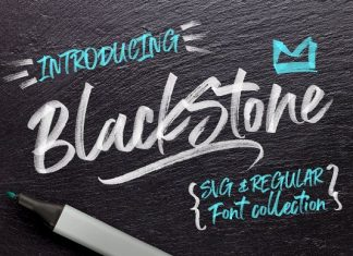 Black Stone Marker Font