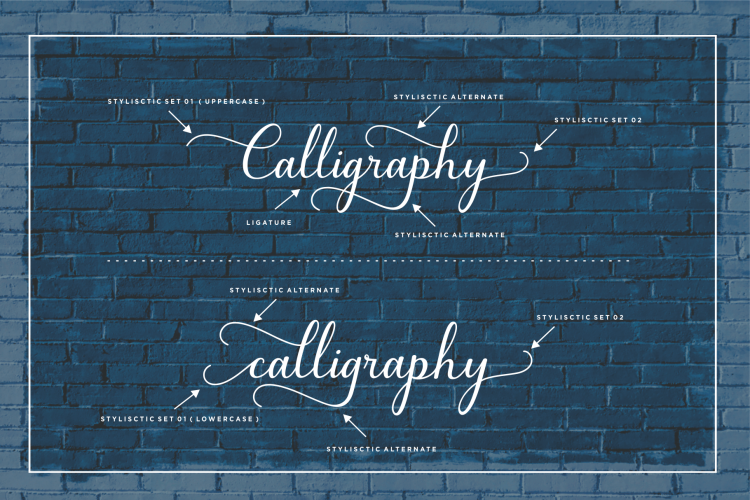 Bluebell - Calligraphy Symbol Font