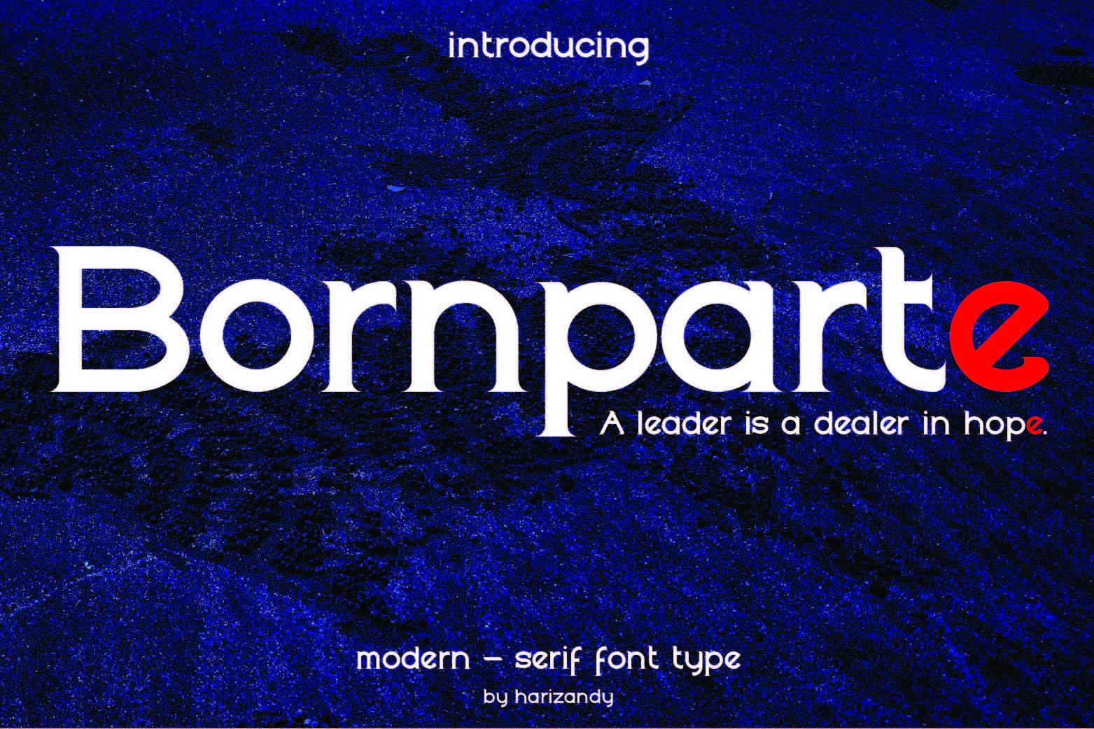 Bornparte Regular Font