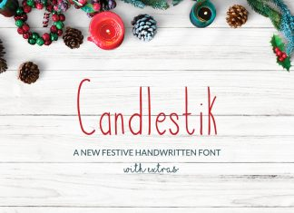 Candlestik Christmas Font & Extras Regular Font