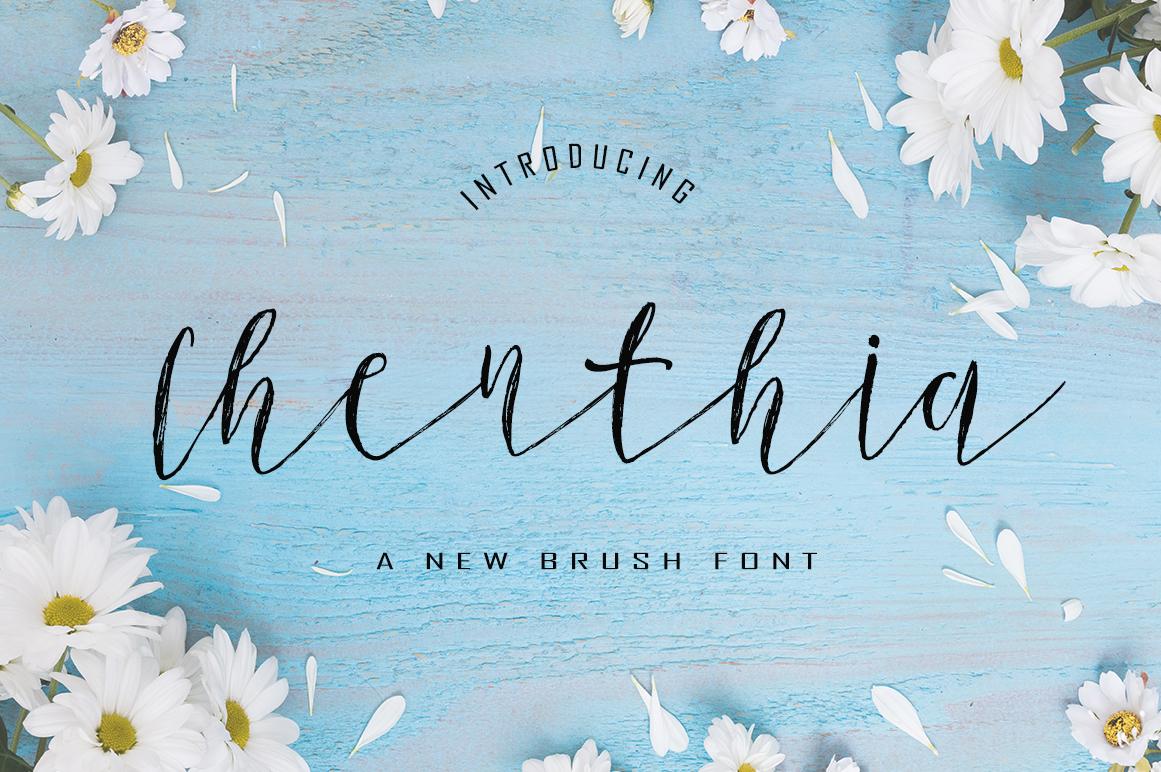 Chenthia Script Font