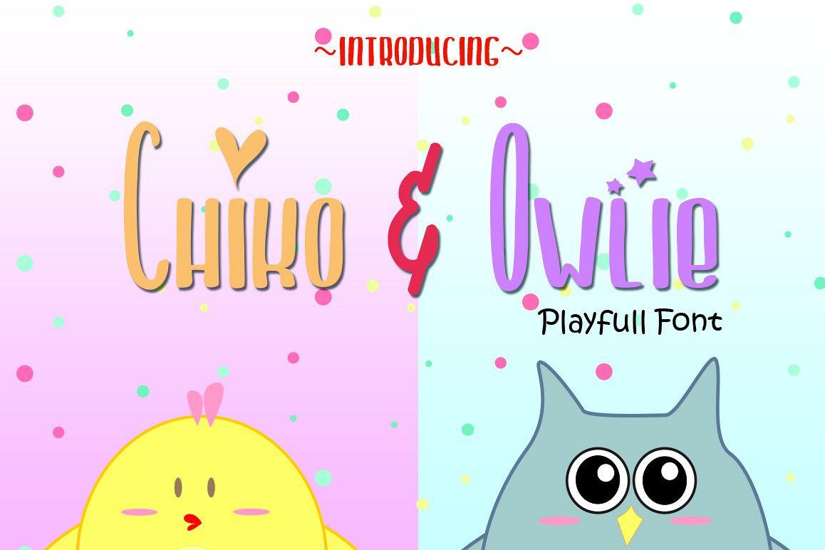 Chiko & Owlie - Extra Cute GraphicRegular Font