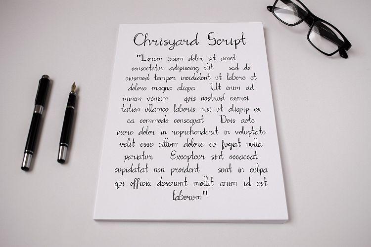 Chrisyard Script Font