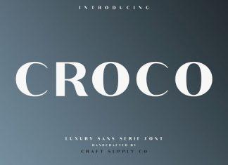 Croco - Luxury Sans Serif Font