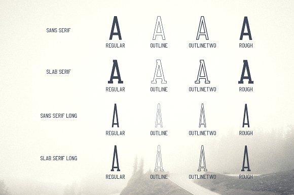 Crossroad -Vintage typeface|16 fonts