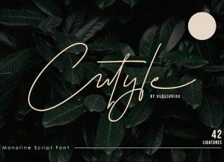 Cutyle Monoline Script