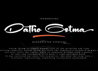 Datho Ostma Font