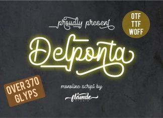 Delponta | Monoline Script