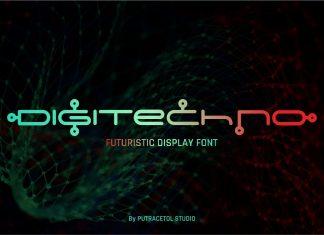 Digitechno - Futuristic Font