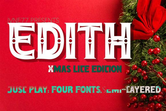 Edith Script Family