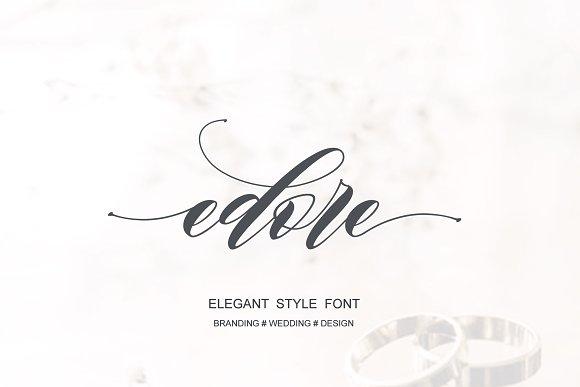 edore Scrip Font